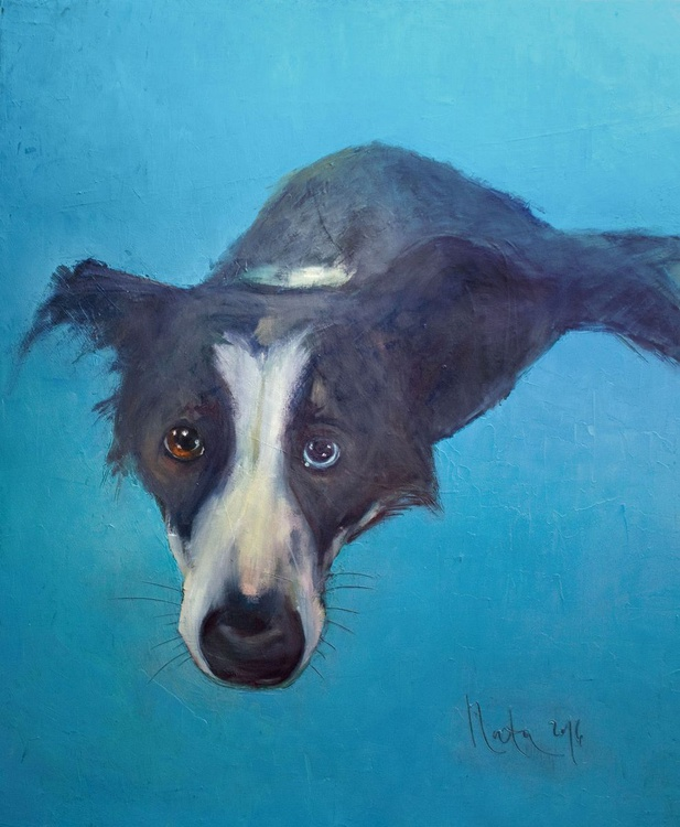 All Dogs Go To Heaven /50 × 60 × 2 cm/ READY TO HANG! - Image 0