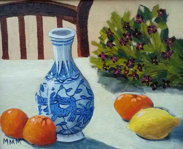 Vase and Citrus -