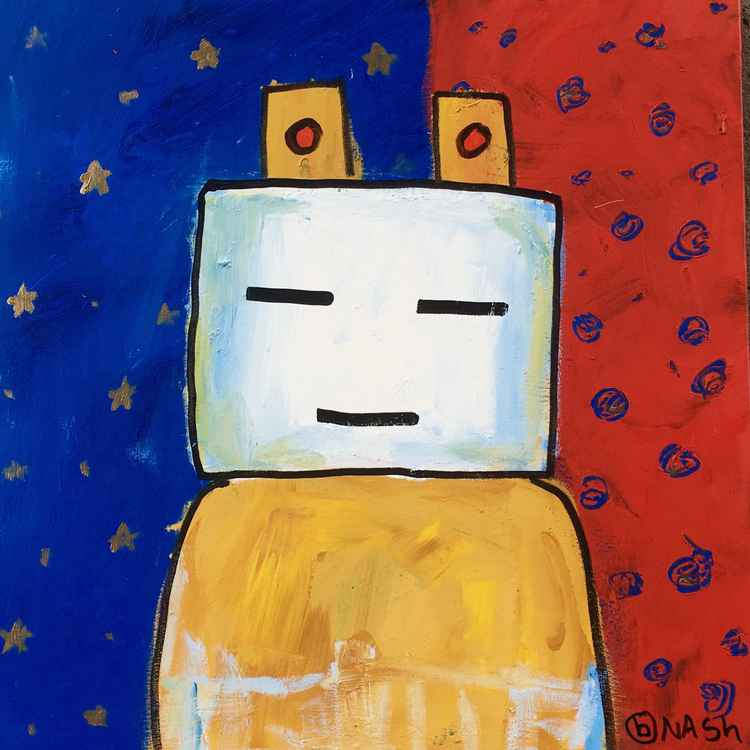 Kachina red and blue