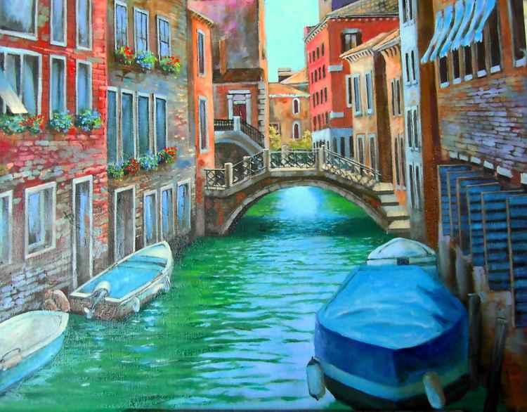 Water of Venice, Original oil on canvas