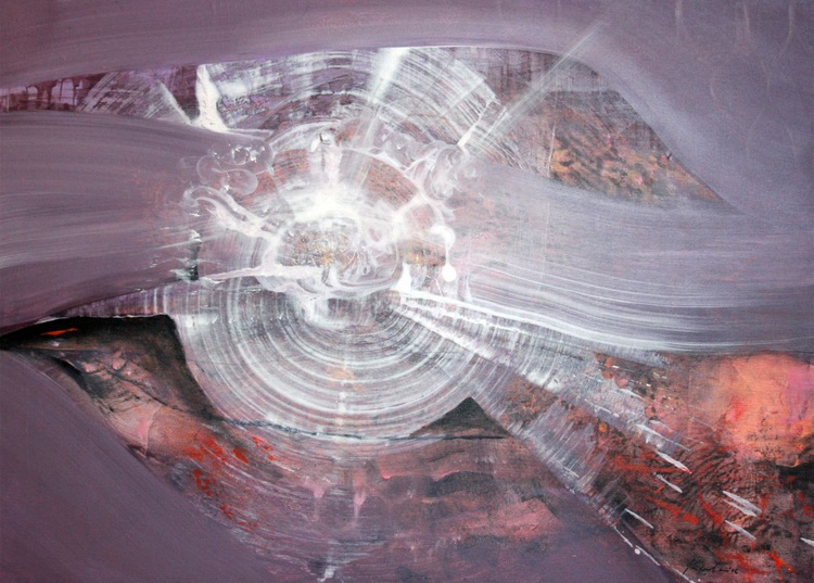 SOFT LIGHT SPIRAL ENERGY COSMIC DIAPHANE PRESENCE CHIMERA FANTASTIC UNIQUE ONIRIC ART SIGNED BY MASTER KLOSKA - Image 0