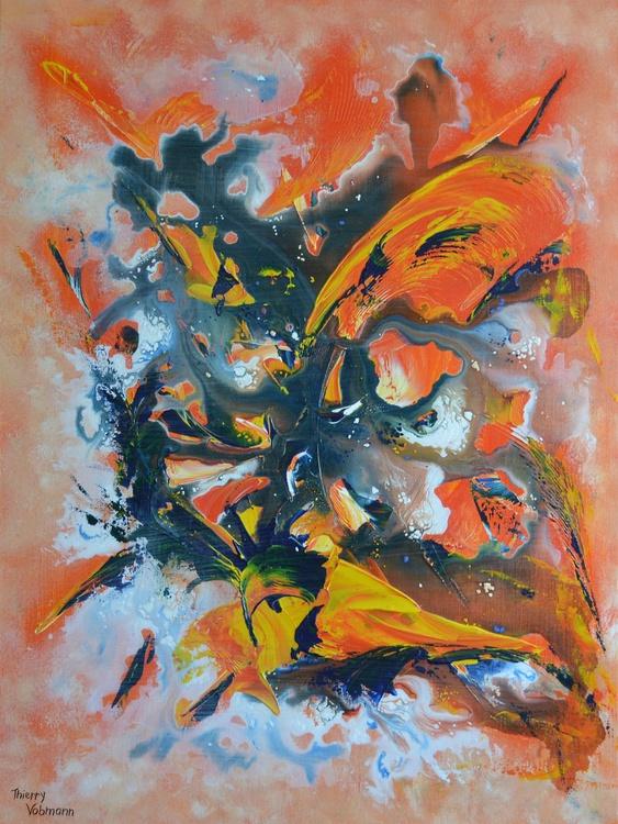 Burning love. 3D canvas 60x80x4,5 cm - Image 0