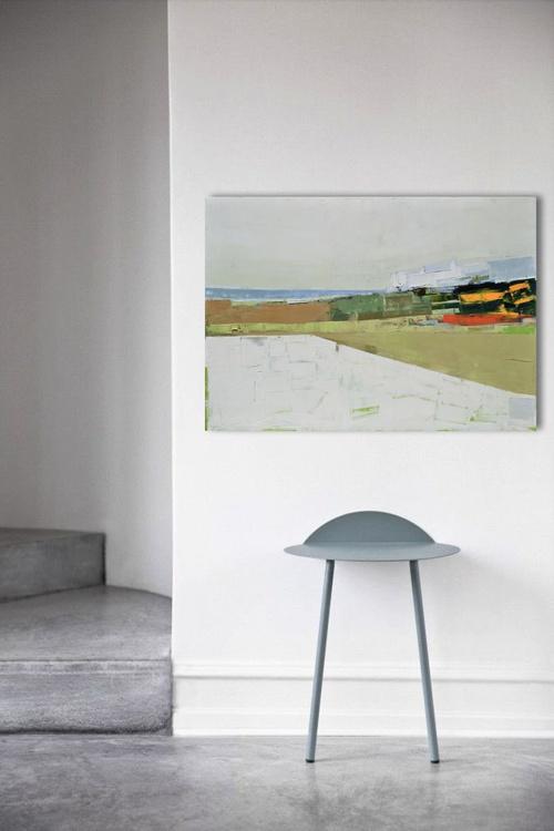 """Abstract painting """"Landscape 23"""". 100/70cm Oil painting on cotton canvas. Unique impasto texture. 100/70 cm - Image 0"""