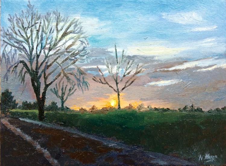 A new dawn! - Original Landscape in Oils - Image 0