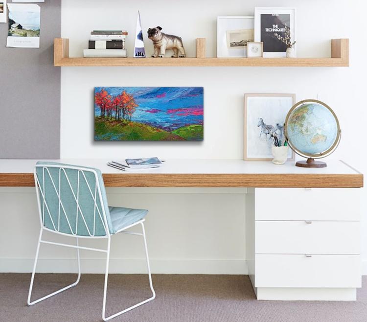 Autumn Sunset Modern Impressionist Oil Painting | Palette knife work - Image 0