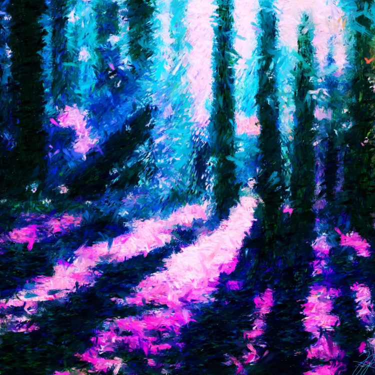 """Magic Forest 03 - Large - Premium Print on Forex Board - 19.69 x 19.69"""" - FREE SHIPPING - Image 0"""