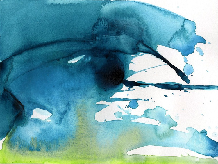 Serenity 3 - Abstract Watercolor Painting by Kathy Morton Stanion - Image 0