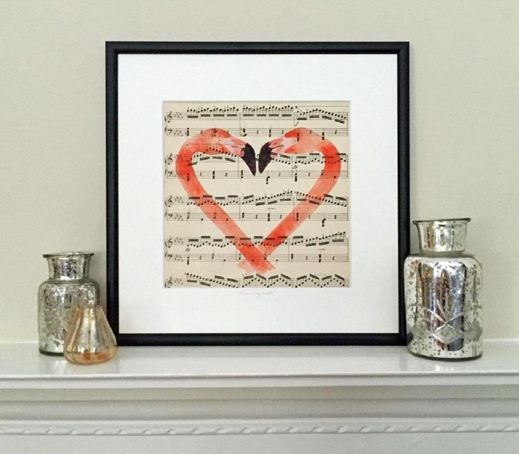 Flamingo Love -  Framed UK Delivery - Image 0