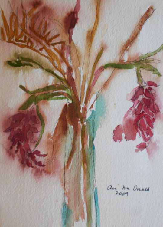 Wild  Grasses in Tall Vase