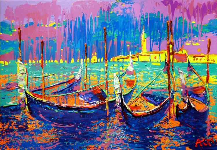 Venice, large painting 100x70 cm - Image 0