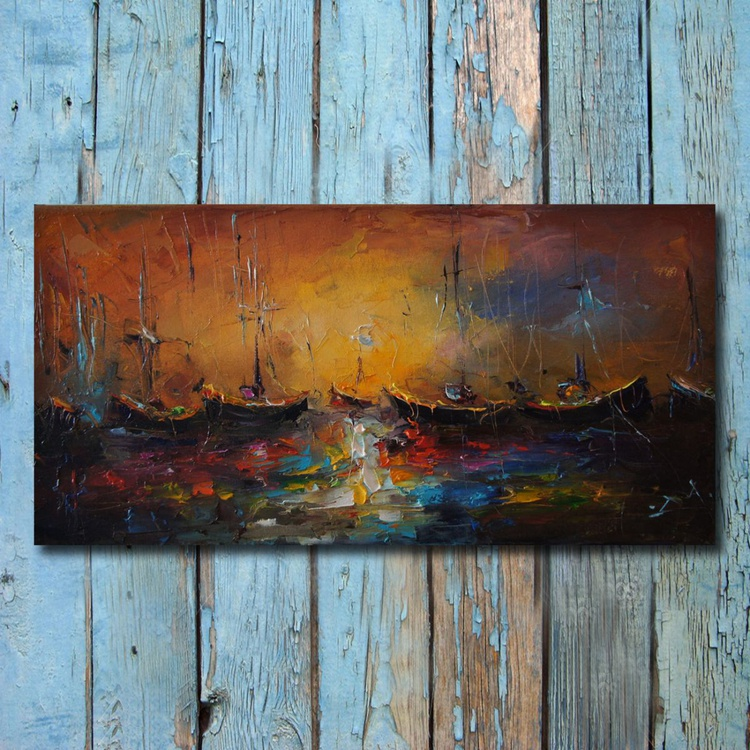 Seascape Painting, free shipping - Image 0