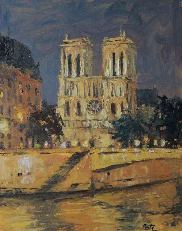 Notre Dame Nocturne, Paris France