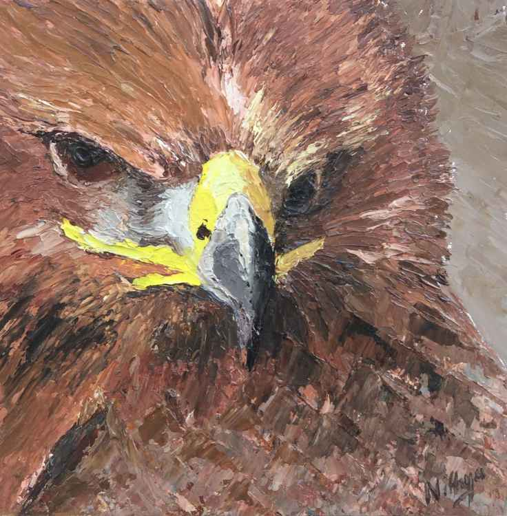 Brown Bird! - Textured Bird Portrait in Oils -