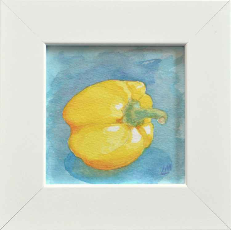 Framed Yellow Pepper -