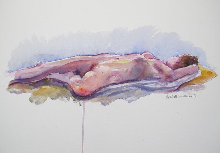 reclining female nude - Image 0