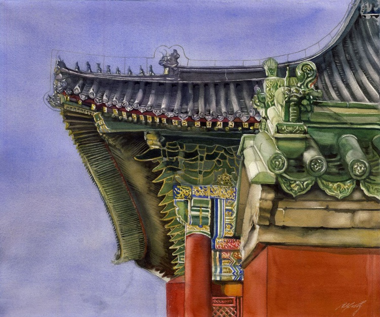 palace roof at Forbidden City - Image 0