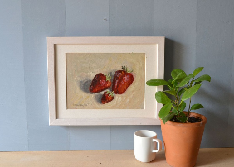 The Strawberry Family Fruit Oil Still Life Painting - Image 0