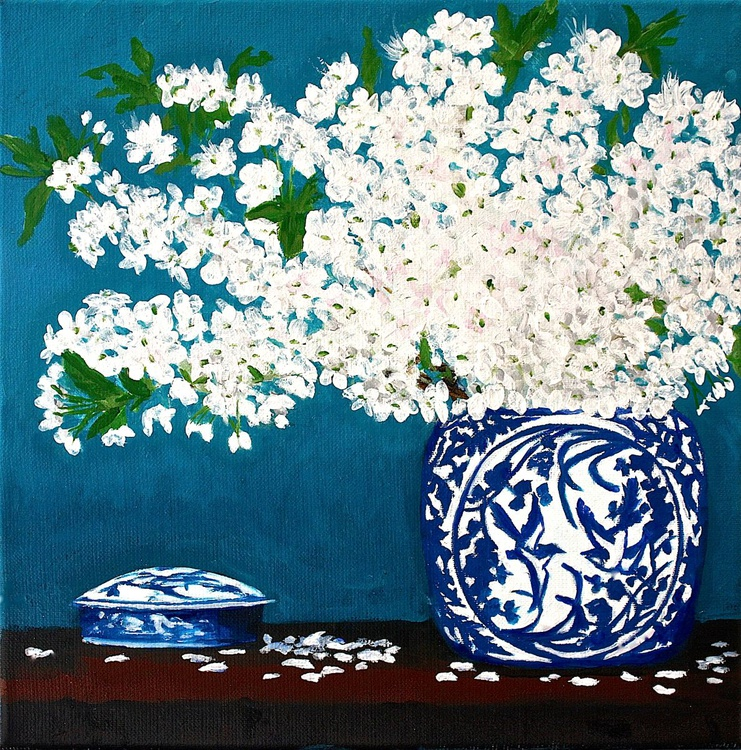 Two Blue & White - Image 0