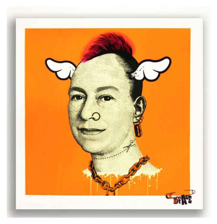 'More Punk Than You Punk' Fluro Orange -