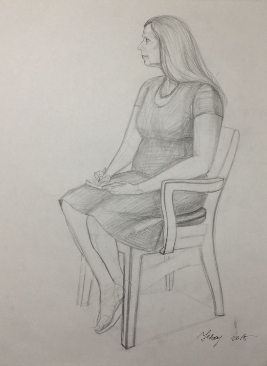Sitting lady - Image 0