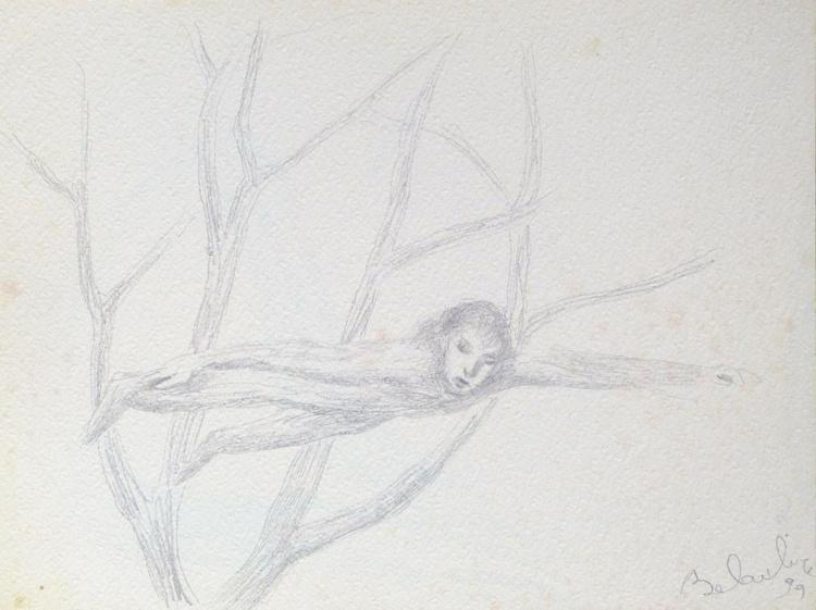 Fairy Tale Illustration, pencil drawing, study #4, 24x32 cm - Image 0