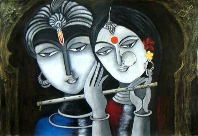 Divine Soul Mates Radha Krishna -
