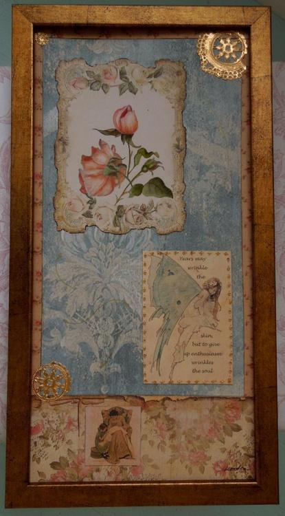Botanical Collage w/Roses - Image 0