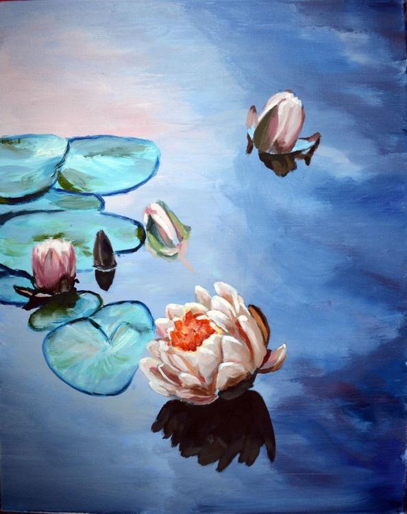 Waterlilies painting - Image 0