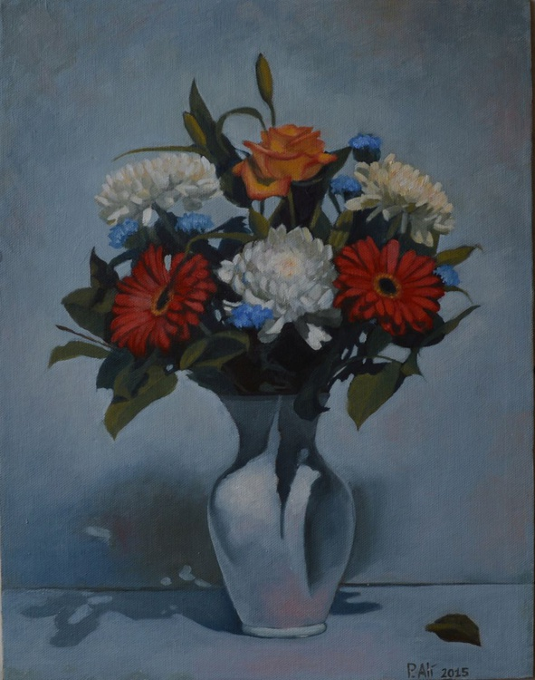 bouquet of flowers still life oil painting by Paola Ali' - Image 0