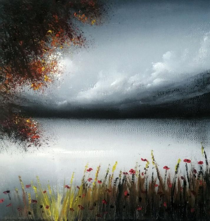 Misty hill lake. - Image 0