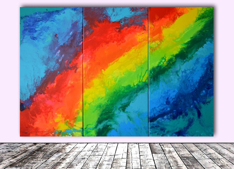 Searching for Love Again - 100x150 cm - Big Painting XXL - Large Abstract, Huge, Gigantic Painting - Ready to Hang, Hotel Wall Decor - Image 0
