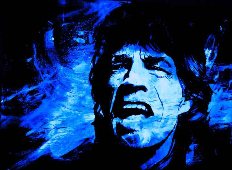 Mick Jagger in Blue -