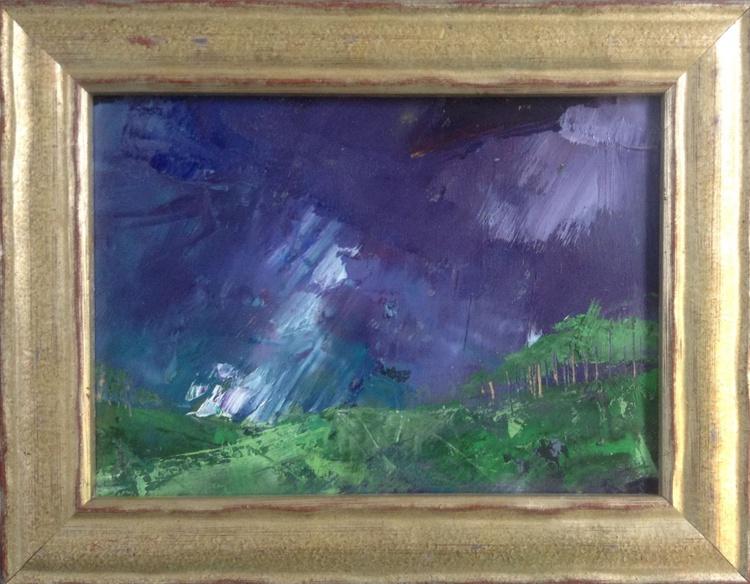 Spring's boisterous first born thunder ( framed original ) - Image 0