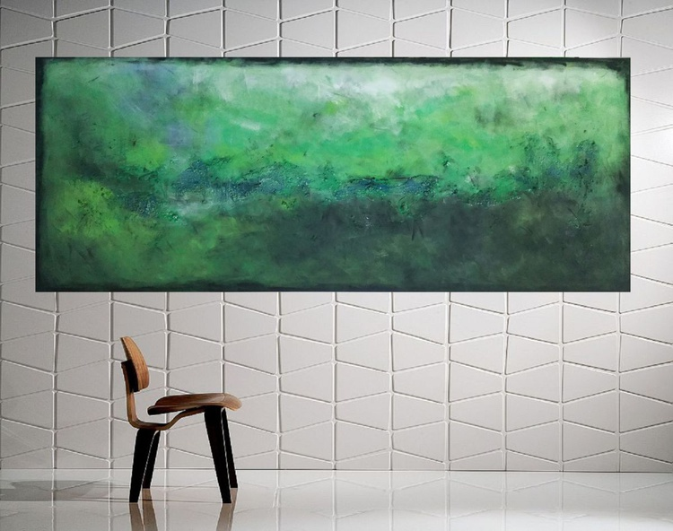 "59x 23,5""( 150x60cm), Samos Island Landscape,  wall design , canvas art, home painting - Image 0"