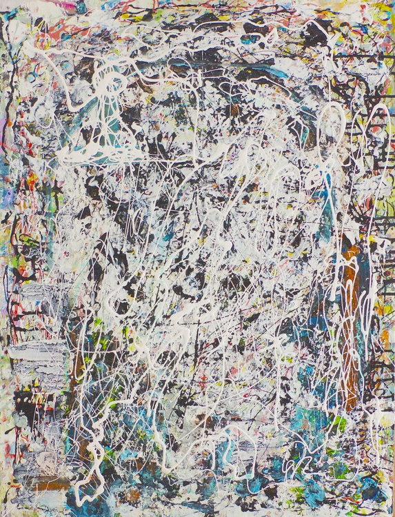A New Archeology Opus 51. Acryl, oil and pastel on hardwood panel. - Image 0