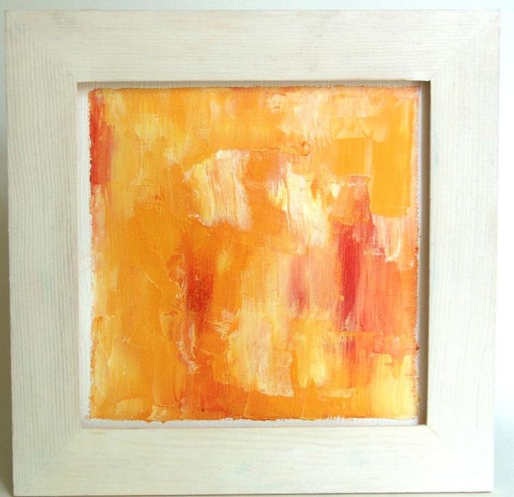 Peint Orange - 20 x 20 cm - Image 0