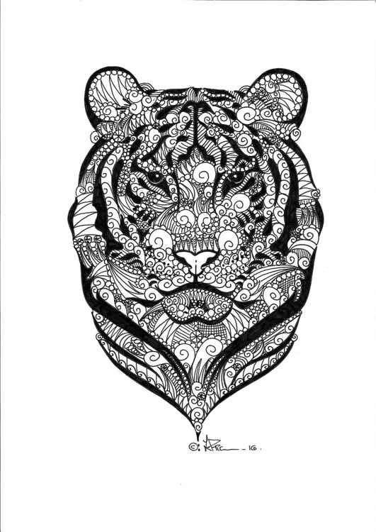 'Doodle Therapy Tiger' -