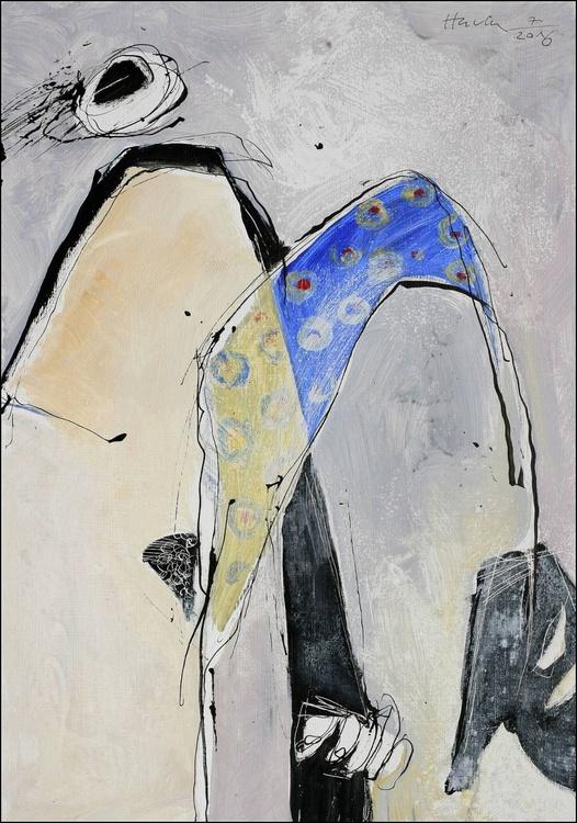 Nude girl with black shoe - Image 0