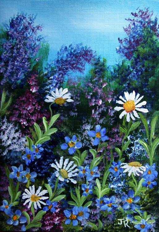 Forget-Me-Nots and Daisies - Image 0