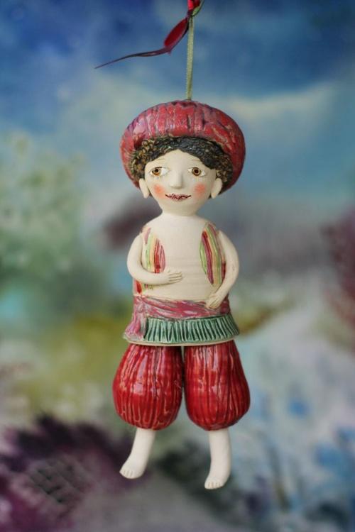 The Changeling. From Midsummer Night's Dream Ceramic illustration project by Elya Yalonetski - Image 0