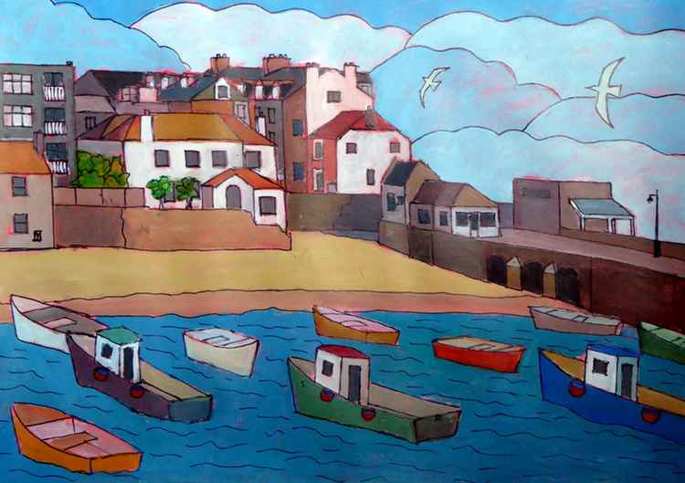 St Ives harbour. -