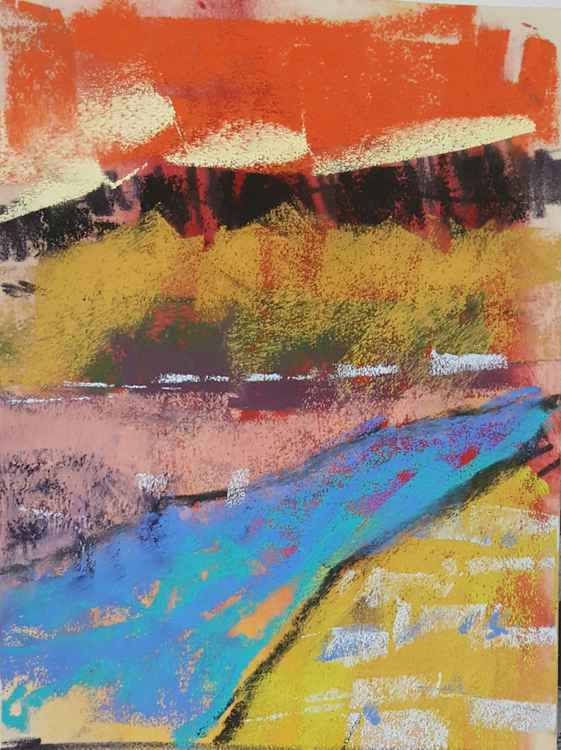 Abstract Colourful landscape