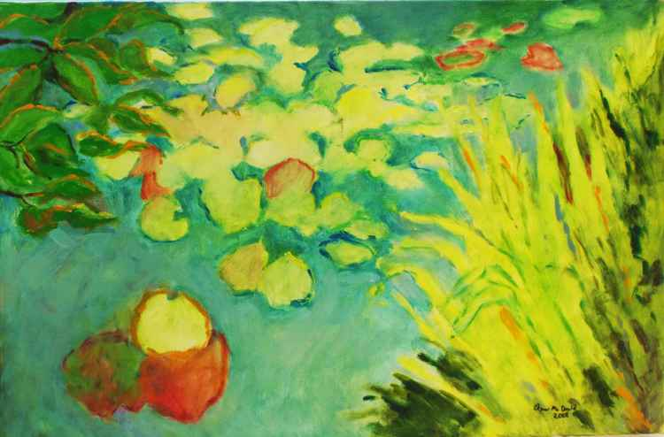 Lily Pond Grasses and Lily Pads/FREE SHIPPING