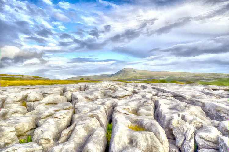 Ingleborough and Limestone Pavements