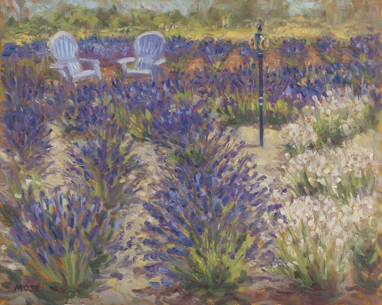 Two Chairs/Lavender Labyrinth - Image 0