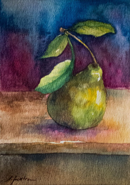 Pear with colorful background - Image 0