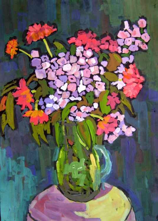 Bouquet, original painting 50x70 cm