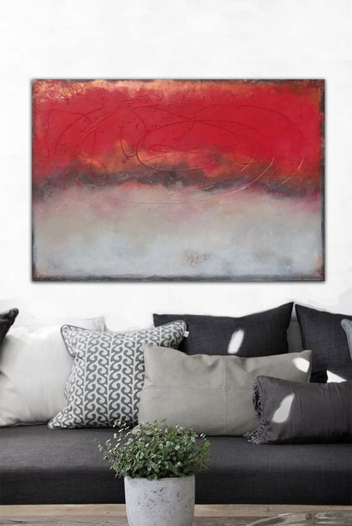 red gold (120 x 80 cm - Image 0