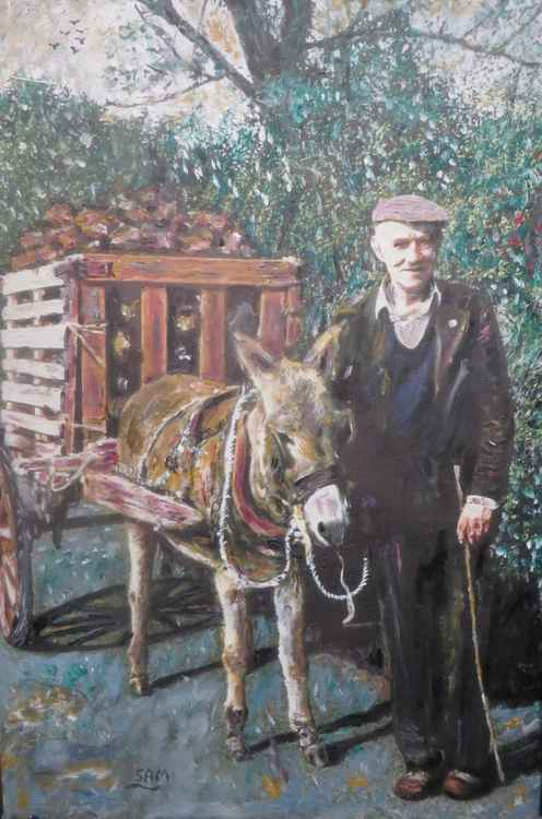 Gerry & his donkey in the Irish country side -
