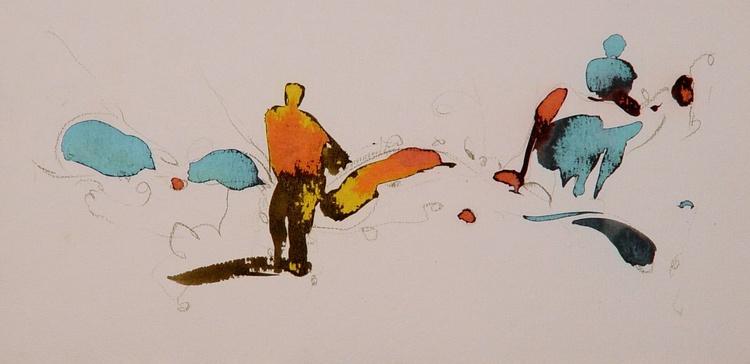 On the Cezanne Island #10, 40x20 cm - Image 0